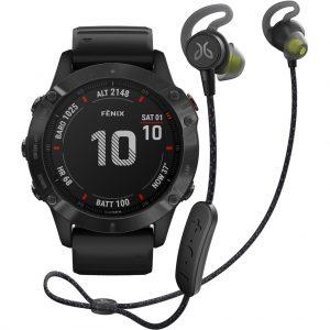 Garmin Fenix 6X PRO – Zwart – 51 mm + Jaybird Tarah Pro Wireless Sport Oordopjes