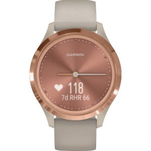 Garmin Vivomove 3S Sport – Rosé Goud/Beige – 39 mm