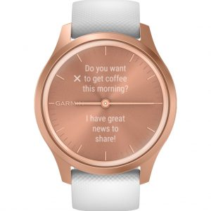 Garmin Vivomove Style – Rosé Goud/Wit – 42 mm