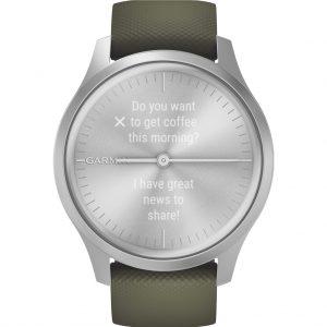 Garmin Vivomove Style – Zilver/Groen – 42 mm