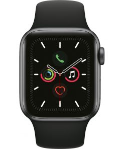 Apple Watch Series 5 40mm Space Gray Aluminium Zwarte Sportband