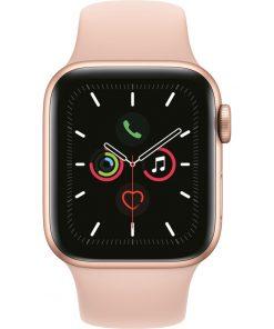 Apple Watch Series 5 40mm Goud Aluminium Roze Sportband