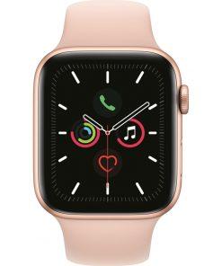 Apple Watch Series 5 44mm Goud Aluminium Roze Sportband