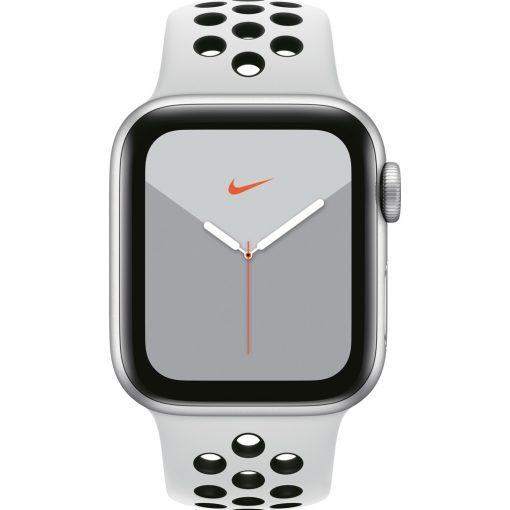 Apple Watch Nike Series 5 40mm Zilver Aluminium / Witte Sportband
