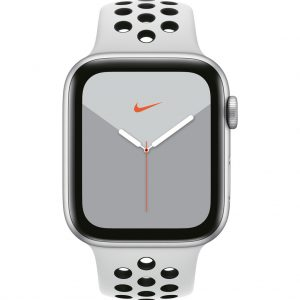 Apple Watch Nike Series 5 44mm Zilver Aluminium / Witte Sportband