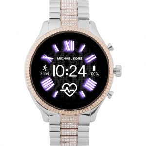 Michael Kors Access Lexington Gen 5 MKT5081 – Zilver/Rosé Goud met diamantjes