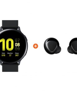 Samsung Galaxy Watch Active2 Zwart 40 mm Aluminium + Galaxy Buds Plus Zwart