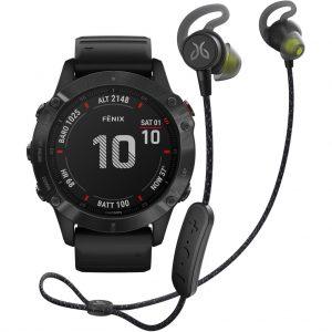 Garmin Fenix 6 PRO – Zwart – 47 mm + Jaybird Tarah Pro Wireless Sport Oordopjes