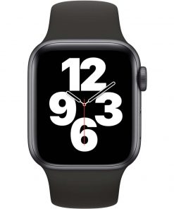 Apple Watch SE 40mm Space Gray Aluminium Zwarte Sportband