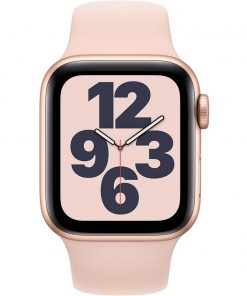 Apple Watch SE 40mm Roségoud Aluminium Roze Sportband