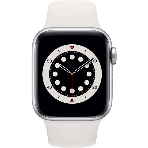 Apple Watch Series 6 40mm Zilver Aluminium Witte Sportband