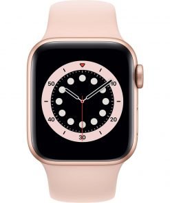 Apple Watch Series 6 40mm Roségoud Aluminium Roze Sportband