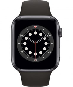 Apple Watch Series 6 44mm Space Gray Aluminium Zwarte Sportband