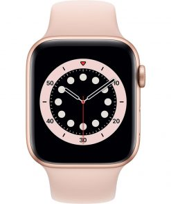 Apple Watch Series 6 44mm Roségoud Aluminium Roze Sportband