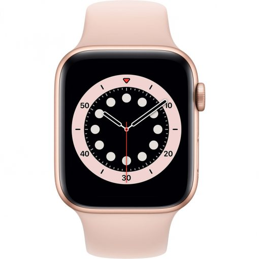 Apple Watch Series 6 44mm Roségoud Aluminium Roze Sportband