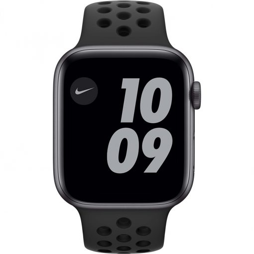 Apple Watch Nike Series 6 44mm Space Gray Aluminium Zwarte Sportband