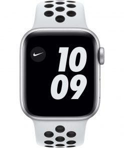 Apple Watch Nike SE 40mm Zilver Aluminium Witte Sportband