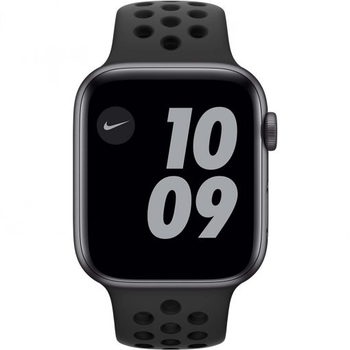 Apple Watch Nike SE 44mm Space Gray Aluminium Zwarte Sportband