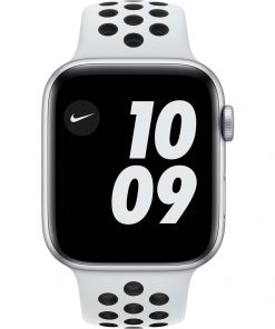 Apple Watch Nike SE 44mm Zilver Aluminium Witte Sportband
